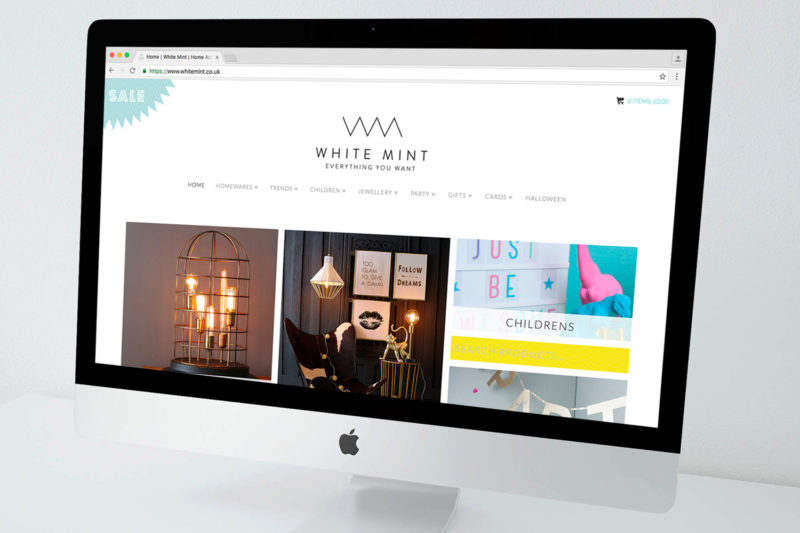 Design House Studio - Website Construction - White Mint